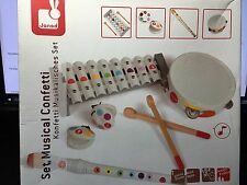 Instruments Musical Confetti JANOD Set France 2-5 Years NEW