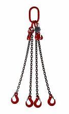 2mtr x 4 leg 8mm Lifting Chain Sling 4.2 tonne with Grab Hook Shorteners
