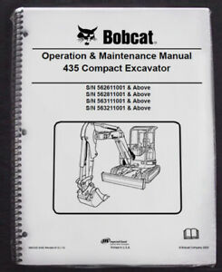 Bobcat 435 Excavator Operation & Maintenance Manual Operator/Owner's 1 # 6902330