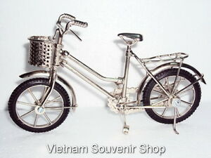 Handmade Miniature Metal Art Model Bicycle - White Iron Bicycle - Gift