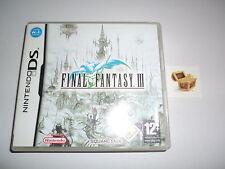 Nintendo DS Final Fantasy 3 Final Fantasy III DS juego juegos