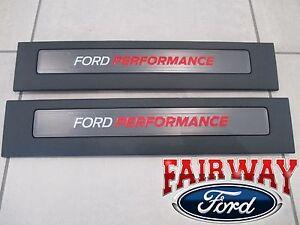 15 thru 19 F-150 OEM Ford Performance  RAPTOR Door Sill Plate Set CREW CAB ONLY