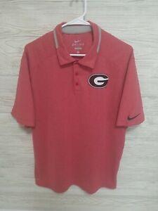 Nike Dri-Fit Mens Georgia Bulldogs Performance Polo Shirt Size Large UGA Golf