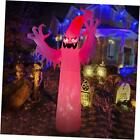 12FT Halloween Large Inflatable Red Fire Ghost Outdoor Decoration with Build
