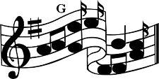 Sticker Note de Musique 012 - 113x57 cm