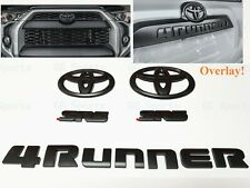 5PCS Set Overlay Matte Black Out 4Runner SR5 Emblem Badge For 2014-2020 Toyota