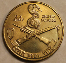 Army Sniper School / Skull & Snake Gold Toned Army Challenge Coin