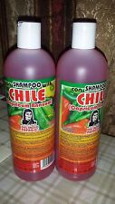 2 SHAMPOO CHILE DEL INDIO PAPAGO (PACK OF 2) 16.9 FL OZ EA  HAIR GROW ALL NATUR