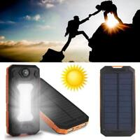 Waterproof 300000mAh Portable Solar Power Bank Charger for Cell Phone No Battery