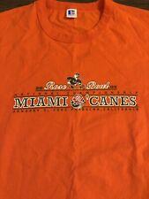 Russell Athletic Miami Hurricanes Rose Bowl 2002 UM T Shirt Champs Mens Sz XL
