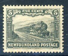 "1931 Newfoundland MNH OG 5 cent ""Train crossing Newfoundland"" nice stamp!!"