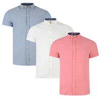 BLEND New Men's Retro Patterned Short Sleeve Shirt Regular Fit S M L XL XXL