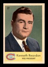 KENNETH REARDON 59-60 PARKHURST 1959-60 NO 22 EX+  12243