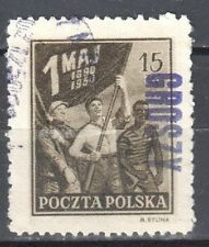 Poland 1950 Workers of Three Races with Flag - surcharged GROSZY - Fi.515 - used