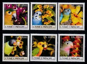 SÃO TOME & PRINCIPE Parrots & Parakeets MNH set