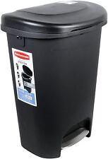 Rubbermaid 13 Gallon Step On Trash Can. Garbage Waste Bin Basket Kitchen Large