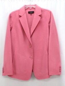 NEW pink TALBOTS flannel wool blazer suit jacket super soft XL 14 14W