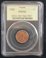 1920-P Lincoln Cent, MS65RD, PCGS Old Green Holder