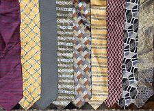 Geoffrey Beene LOT of 9 Men Silk Neckties (LOT 2369)