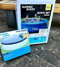 Summer Waves 10'x30 Ft Quick Set Above Ground Pool W/ Filter Pump & Cover Combo!