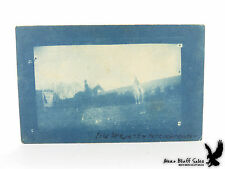 Patch Grove Wisc Cyanotype PC IDENTIFIED Horseback Riders 1912