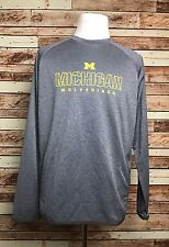 University of Michigan Wolverines Gray Pullover Jacket W/pockets Size Large NWT