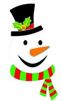 "15"" Large Snowman Magnet Face Kit Giant Christmas Refrigerator Decoration"