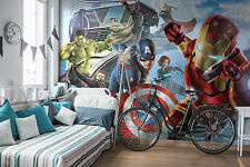 Giant paper wallpaper 368x254cm wall mural for kids room Marvel Avengers