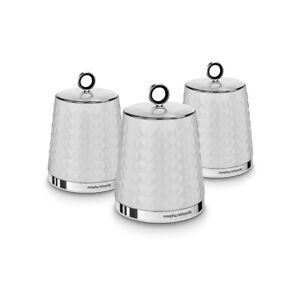 Morphy Richards 978054 Dimensions Set of 3 White Kitchen Storage Canisters
