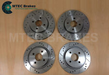 FORD FOCUS ST170 Drilled Grooved BRAKE DISCS FRONT REAR