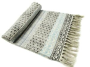 Indian Hand Block Print Cotton Rug Indoor Floor Runner Handmade Beach Yoga Mats