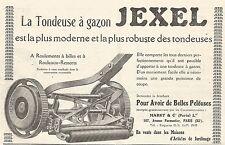 W7983 Tondeuse à gazon JEXEL - Pubblicità del 1926 - Old advertising