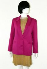 Lampert • Shocking Pink Blazer Jacket Size 10 • Vintage Late 1980s