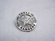 TEXAS RANGERS SILVER STAR Mini Badge Old West Cowboy Lapel Pin Miniature Badges