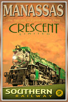 MANASSAS Virginia - CRESCENT LTD -Southern Railway Train Poster Art Print 158