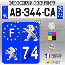 Stickers Plaque D'immatriculation Logo Peugeot - 4 pièces 45x100 mm