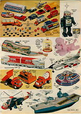 1963 AD 2 PG Mechanical Toy Dick Tracy Copmobile Flying Tiger Plane Space Survey