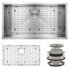 """30"""" x 18"""" x 9"""" Undermount Stainless Steel Single Bowl Kitchen Sink w/ Drain Grid"""