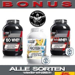 🔥FREY NUTRITION 2300g Protein 96 Triple Whey ISO Whey  MEGABONUS+BLITZVERSAND🔥