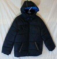 Boys Harvey & Jones Dark Blue Padded Hooded Warm Puffa School Coat Age 5-6 Years