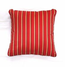Throw Pillows Sunbrella Harwood Crimson 5603/Jockey Red 5403 Striped Set/2