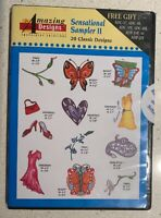 20 Sensational Sampler II Machine Amazing Embroidery Designs CD ROM NEW