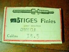 lot x5 piéces part Omega Cal. 13.5 tige remontoir winding stem aufzugwelle swiss