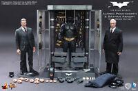 HOT TOYS 1/6 THE DARK KNIGHT MMS236 BATMAN ARMORY WITH BRUCE WAYNE & ALFRED SET