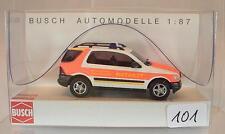 Busch 1/87 48511 Mercedes Benz M-Klasse Feuerwehr Notarzt Leverkusen OVP #101