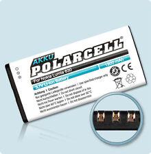 PolarCell Akku für Nokia Lumia 630 635 636 638 630 Dual Sim BL-5H Batterie Accu