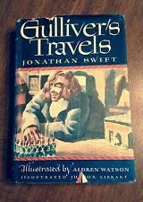 """Vintage """"Gulliver's Travels"""" by Jonathan Swift- 1947- w/Jacket"""