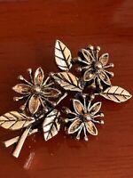 Vintage Miracle Brooch Rare Flower 1950s