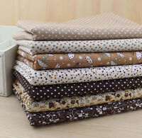 1 PCS Pre-Cut Plain Cotton Quilt cloth Fabric for Sewing brown 7 Style H02
