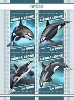 Sierra Leone - 2018 Orcas on Stamps - 4 Stamp Sheet - SRL181106a
